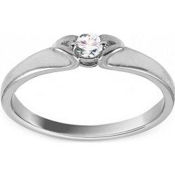 f72c5bb4e iZlato Design Zásnubný prsteň z bieleho zlata s diamantom Benilda KU907A