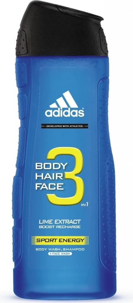 fbd3ba0a533a5 Adidas 3 Active Sport Energy sprchový gél 400 ml od 1,46 € - Heureka.sk