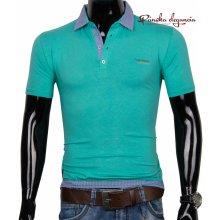 11074-36 Zelené POLO tričko s gombíkovou légou SMS