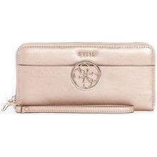 Guess peňaženka Kamryn Large Zip-Around Wallet champagne c0330fe22b0