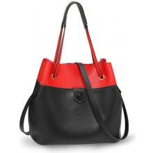 62d3b1502a6f kabelka Azalia dvojfarebná cez rameno čierna červená