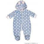 Zimný fleecový overal Baby Service Koliesko modrý