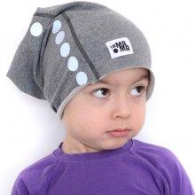 Lamama detská čiapka s reflexnou potlačou šedé