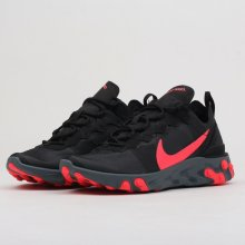 55e638d9b1 Nike W React Element 55 Black  Solar Red-Cool Grey