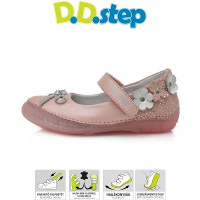 D.D.Step kožené balerínky 046 pink