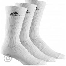 Adidas ponožky Crew Rib T 3pp bílé Z11422