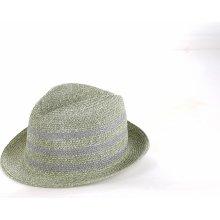 0042c4e31 Dámsky slamený klobúk Kbas sivý 255608-1