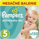 Pampers Plienky Active Baby 5 Junior 11-18kg 150 ks