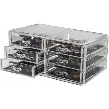 Compactor organizér na šperky 6 zásuviek číry plast RAN6044