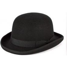 bd17f0dd3 Čierny pinč pánsky klobúk 100% vlna Mes 85015