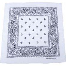 Bandana šátek bílo černý