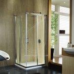 KOLO GEO 6 štvorcoví sprchovací kút 90 cm, posuvné dvere 875 - 900 x 190 cm strieborná lesklá GKDK90222003