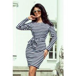 351f0a072f95 NUMOCO Dámske šaty 209-1 modro-biele prúžky od 33