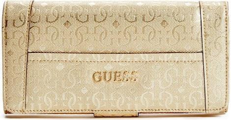 7197960a0 Guess peňaženka Delaney Metallic Logo File Clutch Zlatá alternatívy -  Heureka.sk