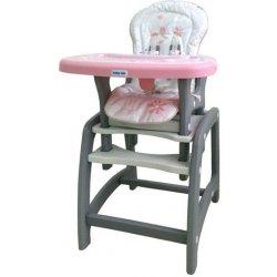 Baby Jedálenská stolička Mix 2v1 ružová
