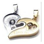 Prívesok pre dvoch, puzzle I LOVE YOU gold Impress Jewelry F214