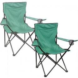 2c175a0211f9 Sada 2x Skladacia kempingové stoličky DELUXE - zelená alternatívy ...