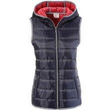 Krojová vesta s kapucňou modrá