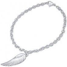 669009123 Silvego dámsky náramok z chirurgickej ocele s príveskom krídla KMMB69550