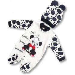 bdbc96ef81fc NECIX´S 2dielna kojenecká súpravička  dupačky+čiapka Panda ...