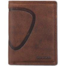 Strellson Pánska kožená peňaženka Billfold V8 hnedá 288ee860150