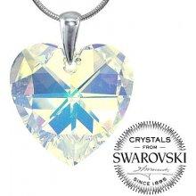 SILVEGO Strieborný prívesok srdce 28mm AB so Swarovski ® Crystals LSW033P 1dec30d93df