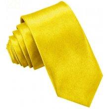 Kravata úzka žltá