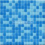 MOSAGRES MSB61 Pressglass Mozaika - sklo, 327x327x4mm, modrý mix