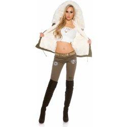 d67a267a6377 In Style dámska luxusná vesta army look biela alternatívy - Heureka.sk