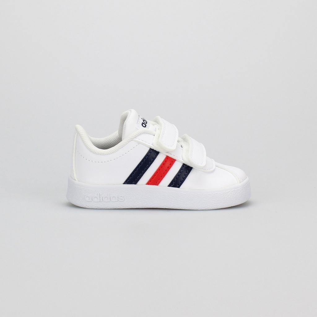 baa61cb0e4d9 Adidas Performance Tenisové topánky VL COURT 2.0 CMF I Biela   Tmavo modrá    Červená