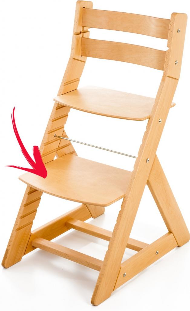 8280371cf56f Detské stoly a stoličky Hajdalánek podnožka k rostoucí židli růžová ...