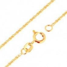 Šperky eshop Retiazka v žltom zlate prepojené oválne očká GG171.09