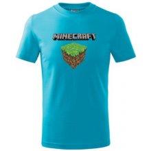 Tričko dětské MINECRAFT 3 tyrkysová