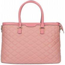 Made In Italy kožená prešívaná kabelka 6810 ružová 6c51ef24a9b