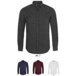 96e53c86c58b SOL´S Pánska čašnícka košeľa bodkovaná - Modrá - biele bodky ...
