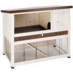 Ferplast Exteriérová drevená klietka pre zajace RANCH 120 BASIC,117x67,5x95,5 cm