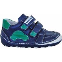 0e8a4666c17a6 Protetika Chlapčenské členkové barefoot topánky Levis modro zelené