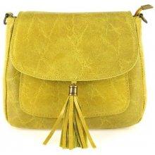štýlová talianska kožená kabelka žltá 9913c764b62