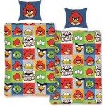 HALANTEX Obliečky Angry Birds kocky modrá bavlna 140x200 70x90
