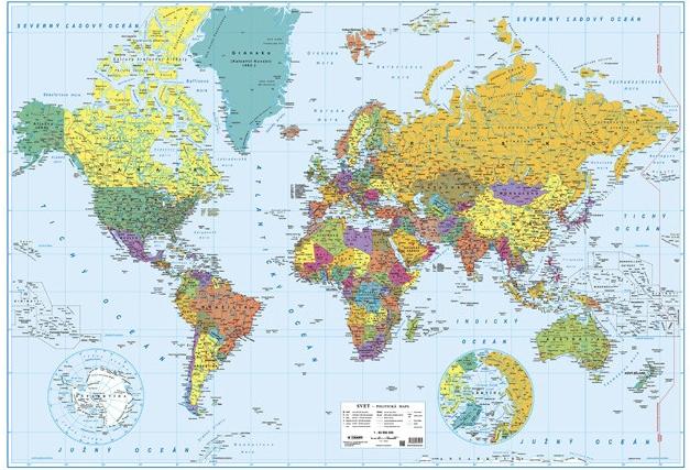 Mapa Svet Politicka Lamino Lista Od 19 90 Heureka Sk