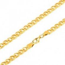 Šperky eshop Zlatá retiazka trblietavé elipsovité väčšie a menšie očko GG26.03