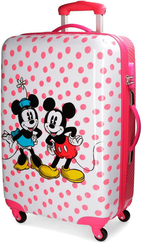 a6035b05e59a0 JOUMMABAGS ABS Cestovný kufor Mickey Mouse a Minnie Dots ABS plast 62 l