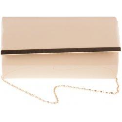 Púdrovo-ružová lakovaná kabelka so zlatým lemom K-1866 alternatívy ... b9b4477bece