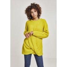 Urban Classics Wrapped Dámsky sveter žltý 56102709b81