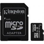 Kingston micro SDHC 16GB UHS-I U1 + SD Adaptér