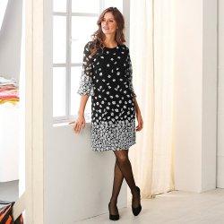 79380cbdab6b Blancheporte Rovné šaty s potlačou kvetín čierna biela alternatívy ...