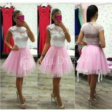 Dámska krátka tylová tutu sukňa ružová