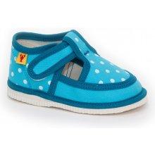 RAK Detská obuv papuče tyrkysová bodka