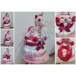 Darčeky-Bambi Plienková trota: trojposchodová s jednorožcom ružová