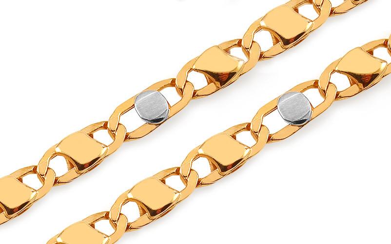 f47abc385 Retiazka iZlato Zlatá dvojfarebná retiazka Hudson Design IZ12750 ...